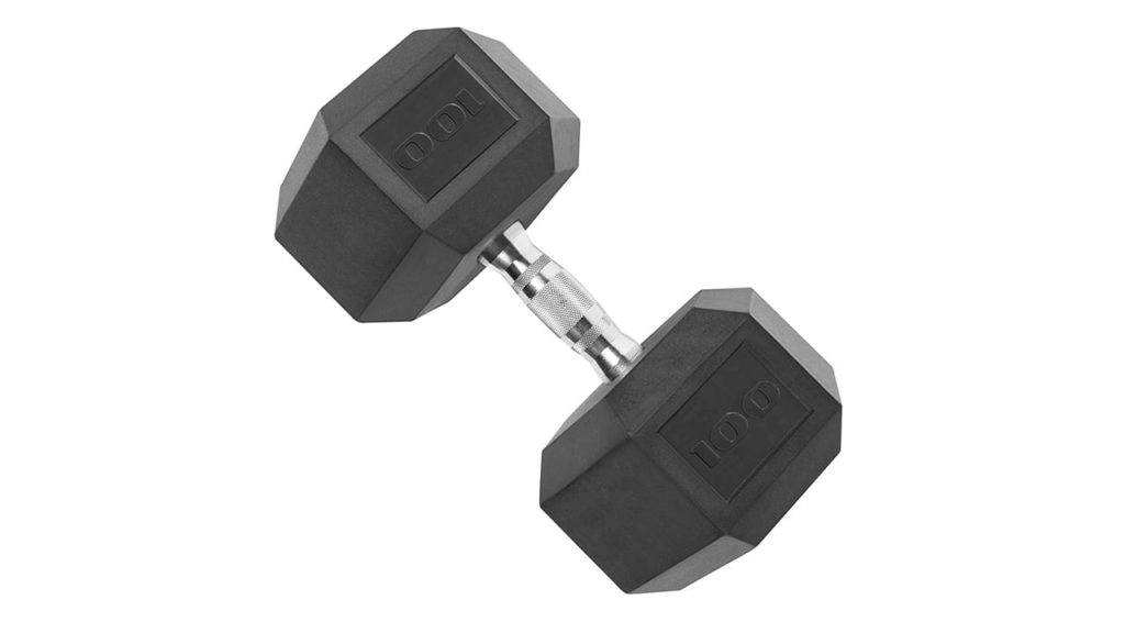CAP Rubber Coated Dumbbell Weights