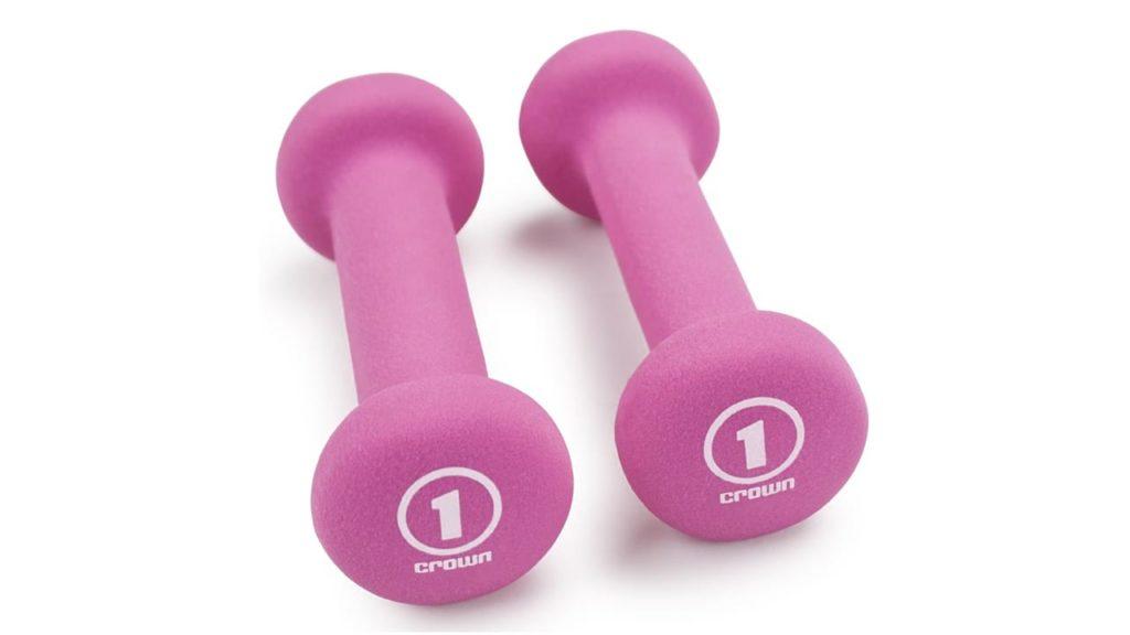 Crown Sporting Goods Pair of Neoprene Body Sculpting Hand Weights