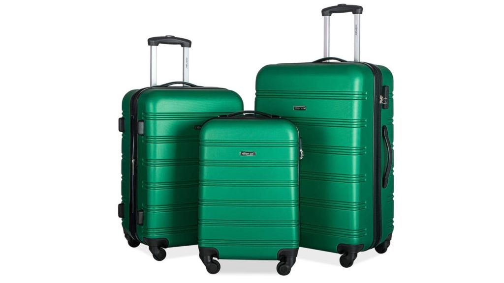 Merax Mellowdy 3 Piece Set Spinner Luggage Expandable Travel Suitcase 20 24 28 inch