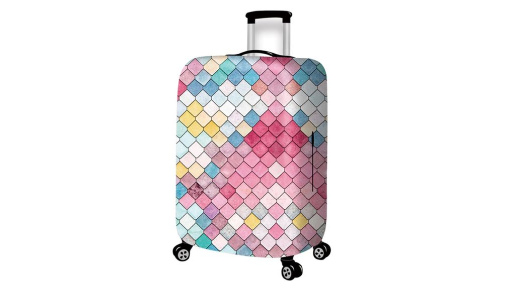 Travel Rolling Luggage Cover Cute 3D Luggage Protector Suitcase Cover