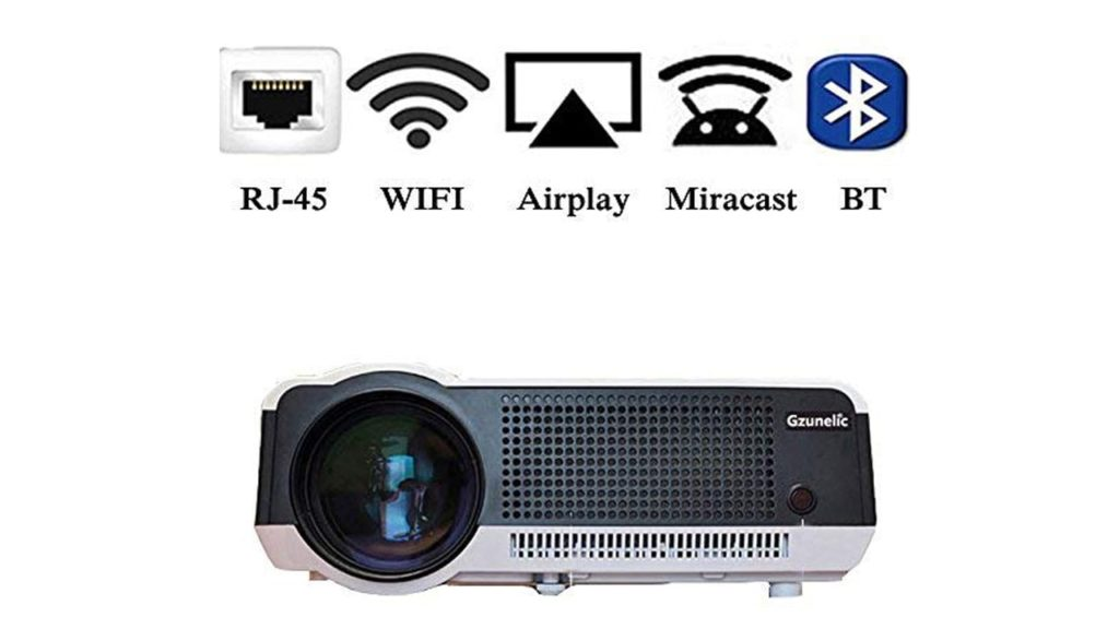 Gzunelic 4500 lumens Android Wifi 1080p Video Projector
