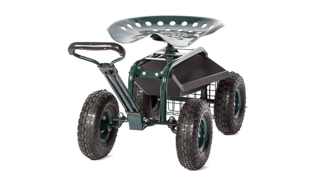 Peach Tree Rolling Garden Carts Work Scooter Gardening