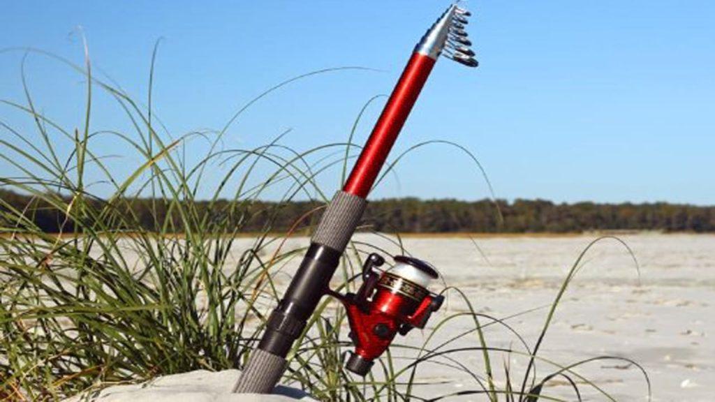 14ft 7 in 4.5M Telescoping Fiberglass Fishing Rod & Reel Combo
