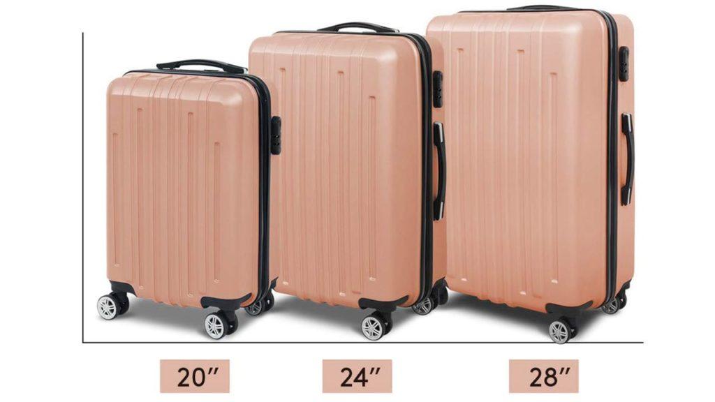 3 Pcs Luggage Suitcase Sets Spinner Wheel Hardshell Lightweight
