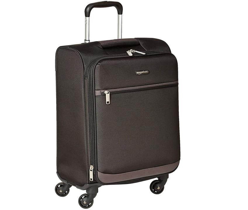 AmazonBasics Softside Carry-On Spinner Luggage Suitcase - 21 Inch, Black