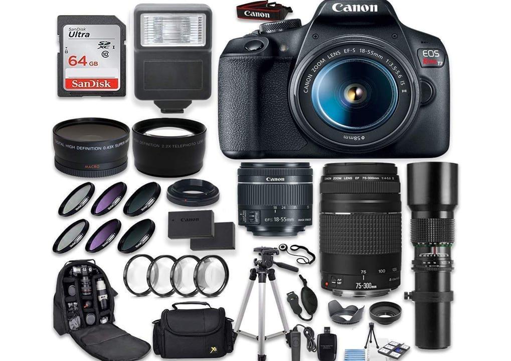 Canon EOS Rebel T7 DSLR Camera + Canon