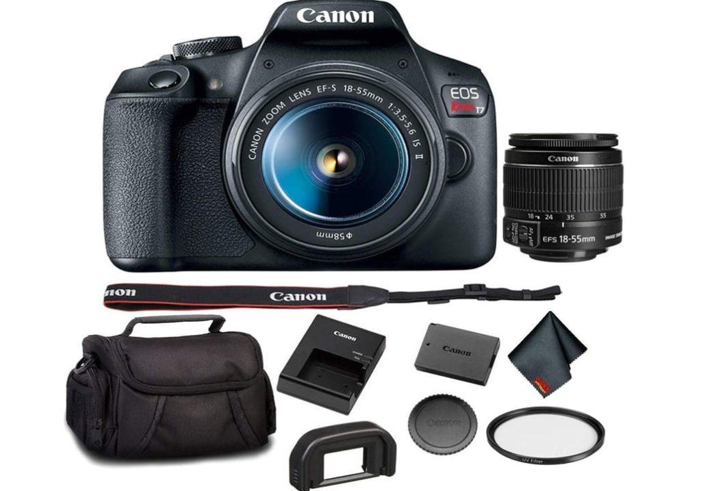 Canon EOS Rebel T7 DSLR Camera with 18-55mm Lens Bundle