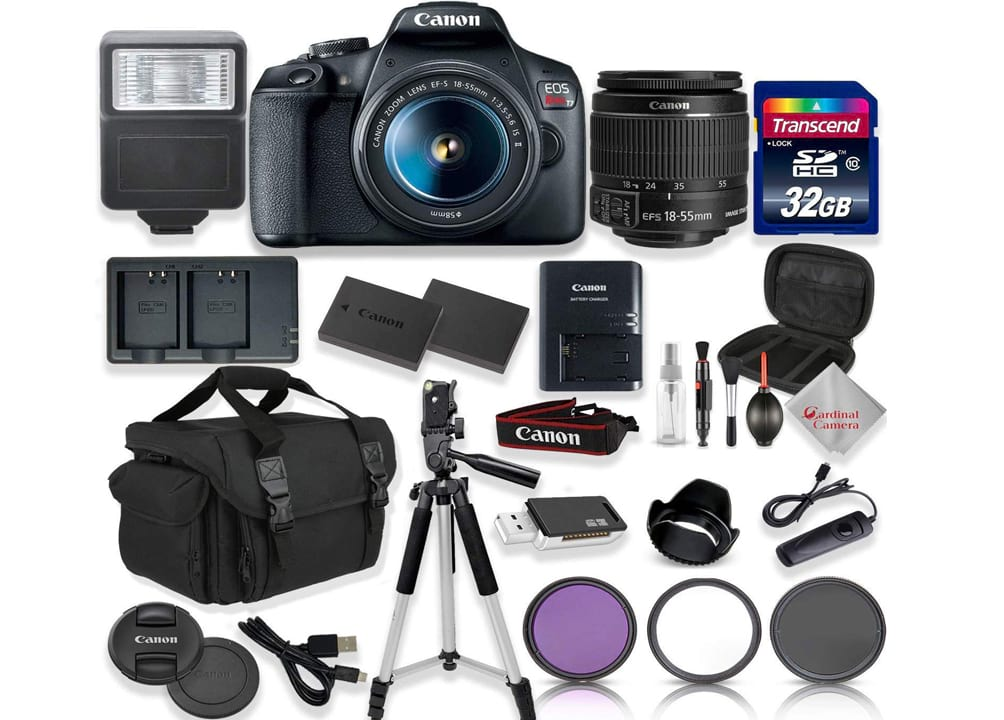 Canon EOS Rebel T7 DSLR Camera with 18-55mm