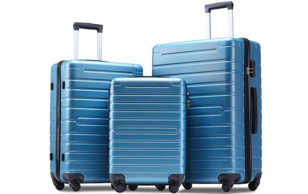 Flieks Luggage Sets 3 Piece Spinner Suitcase Lightweight 20 24 28 inch