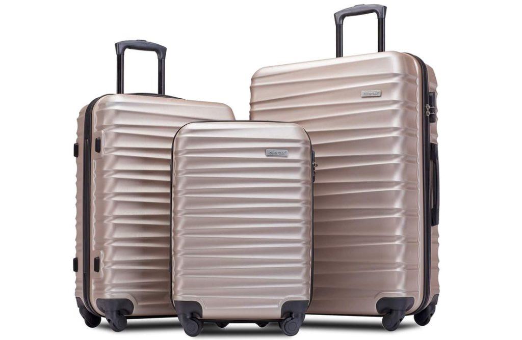 Merax Afuture Luggage Set Hardside Lightweight Spinner Suitcase