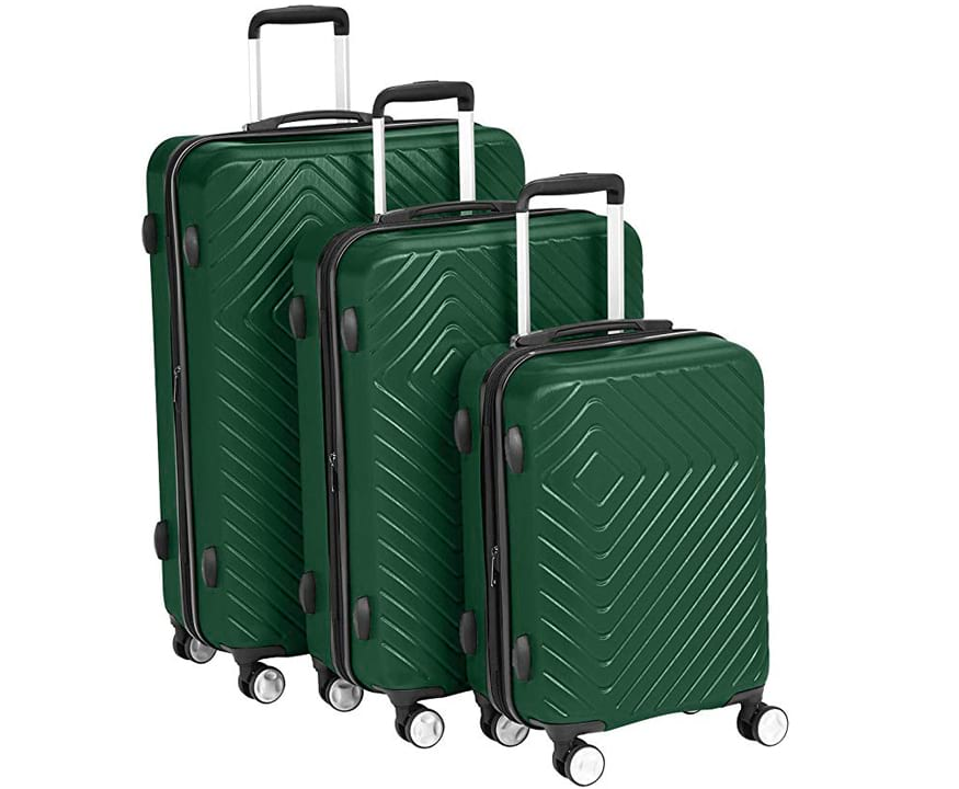 AmazonBasics Geometric Luggage Expandable Suitcase Spinner with Built-In TSA Lock