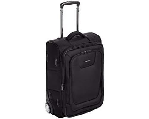 AmazonBasics Premium Upright Expandable Softside Suitcase with TSA Lock