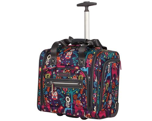 Lily Bloom 15 Under the Seat Design Pattern Carry on Bag With rolling Wheels