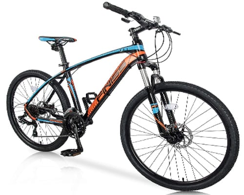 Merax 26 Mountain Bicycle with Suspension Fork 24-Speed Mountain Bike with Disc Brake,