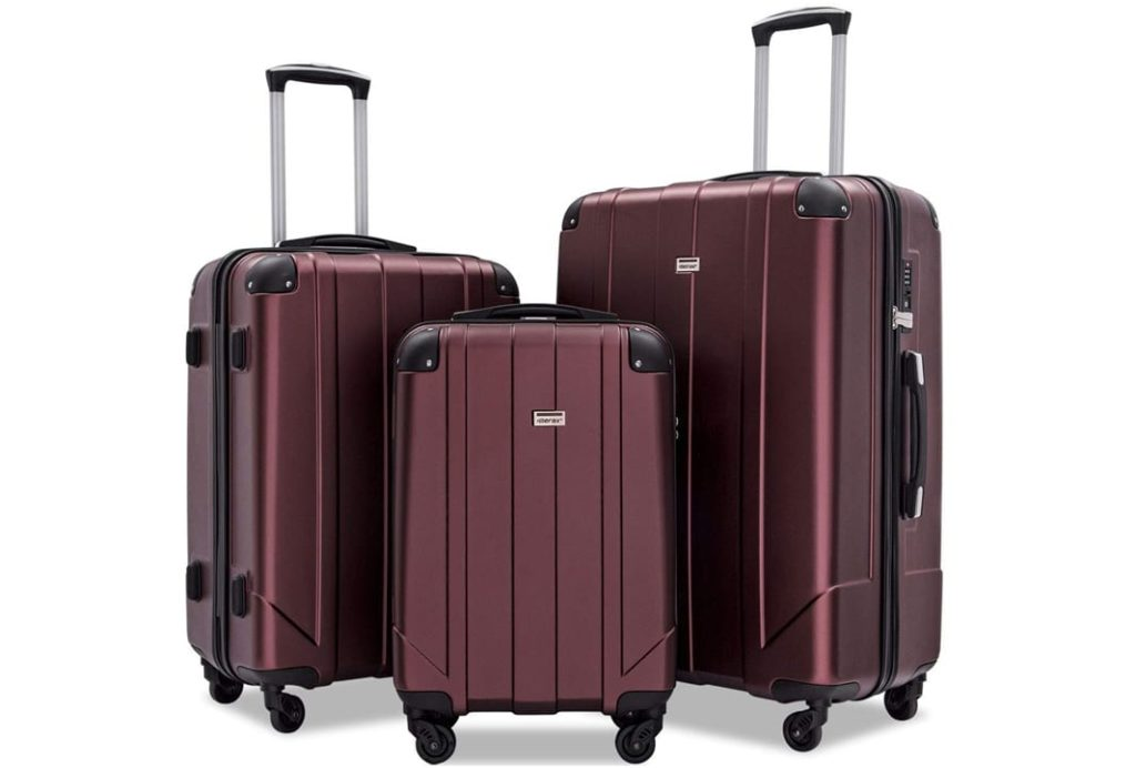Merax 3 Pcs Luggage Set with Built-in TSA and Reinforced Corners