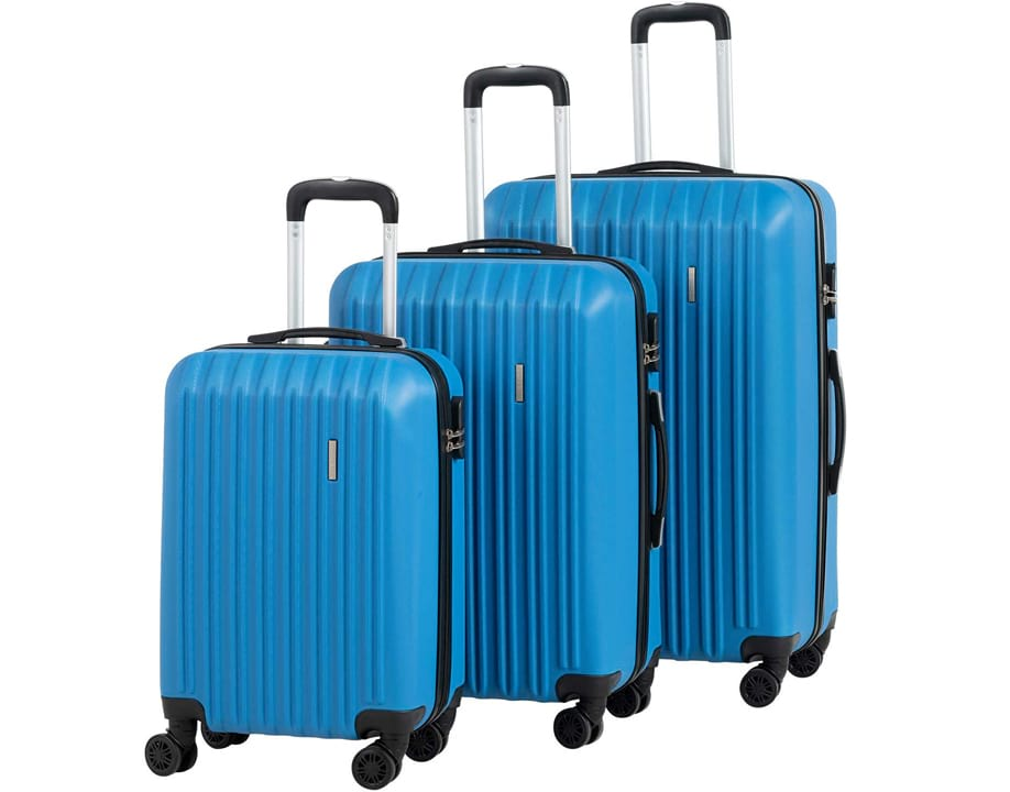 Murtisol 3 Pieces ABS Luggage Sets Hardside Spinner Lightweight Durable Spinner Suitcase