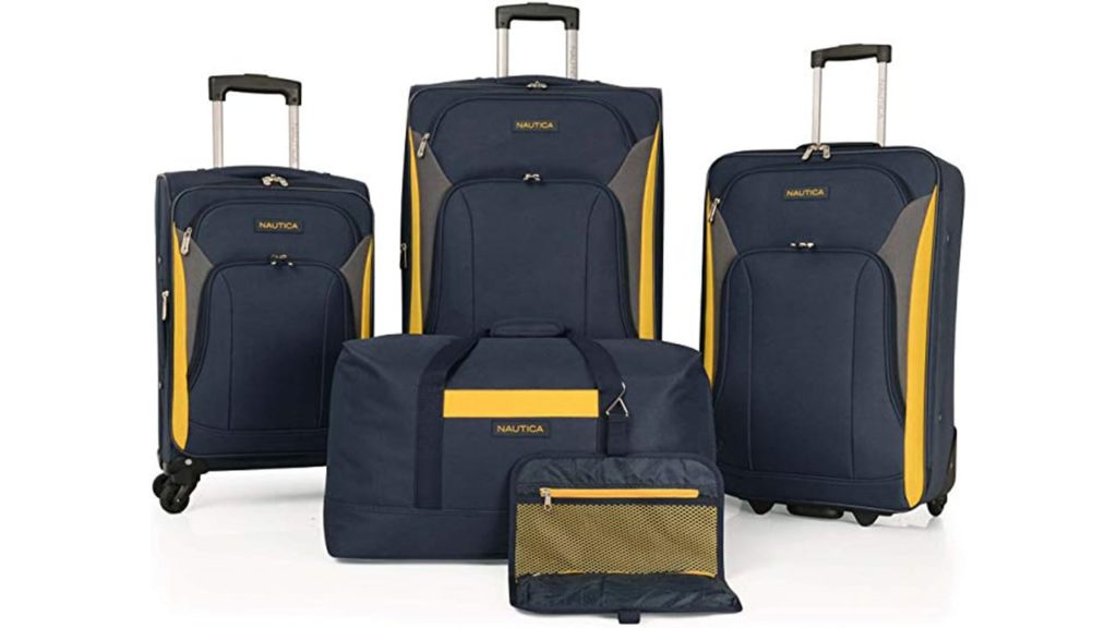 Nautica Luggage Sets 5 Piece 4 Piece Lightweight Suitcase