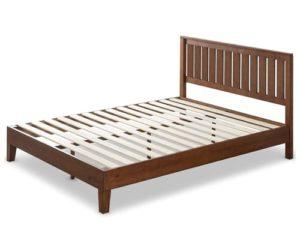 Zinus 12 Inch Deluxe Solid Wood Platform Bed with Headboard