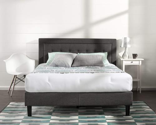 Zinus Dachelle Upholstered Button Tufted Premium Platform Bed