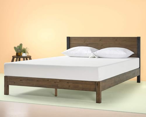 Zinus Cassandra 12 Inch Wood Platform Bed with Headboard, Twin