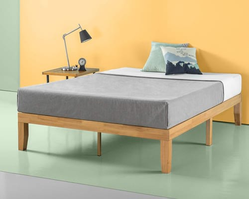 Zinus Moiz 14 Inch Wood Platform Bed No Box Spring Needed Wood Slat Support