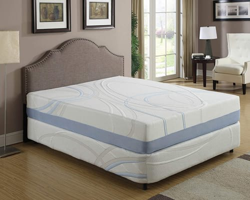 AC Pacific Full Size Charcogel Gel Infused Memory Foam Mattress