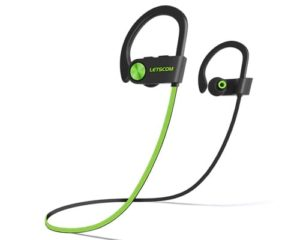LETSCOM Bluetooth Headphones IPX7 Waterproof, Wireless Sport Earphones