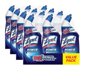 Lysol Power Toilet Bowl Cleaner, 288oz (4X3X24oz), 10X Cleaning Power