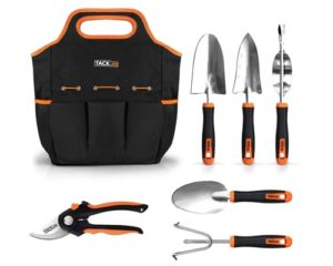 TACKLIFE Garden Tools Set-7 Piece Stainless Steel Heavy Duty kit
