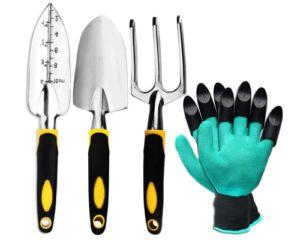 ZOUTOG Garden Tool Set, 4 Pack Gardening Gifts Including Trowel