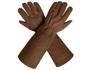 CCBETTER Rose Pruning Gloves with Extra Long Cowhide Sleeves for Men and Women