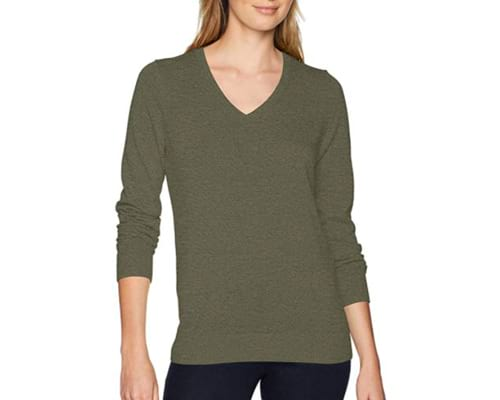 Amazon Essentials Womens Classic Fit Lightweight Long-Sleeve V-Neck Sweater