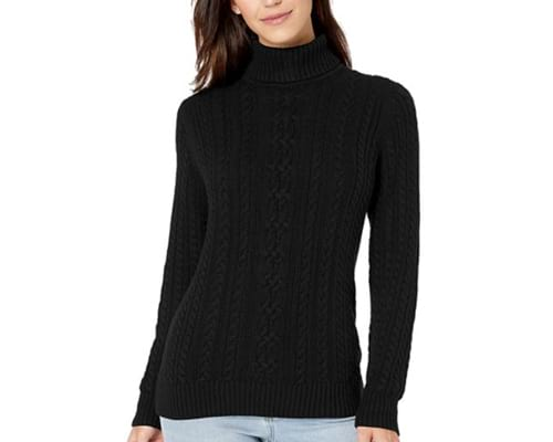 Amazon Essentials Womens Fisherman Cable Turtleneck Sweater