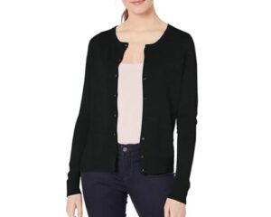 Amazon Essentials Womens Lightweight Crewneck Cardigan Sweater