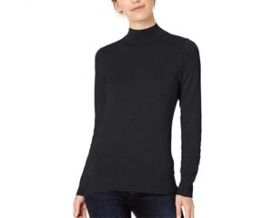 Amazon Essentials Womens Lightweight Long-Sleeve Mockneck Sweater
