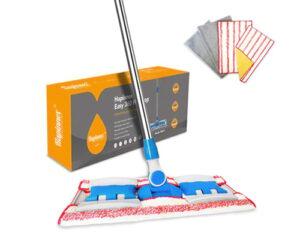 HAPINNEX Hardwood Dust Microfiber Floor Mop - 4 Washable