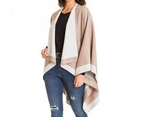 Womens Shawl Wrap Poncho Ruana Cape Cardigan Sweater Open Front for Fall Winter