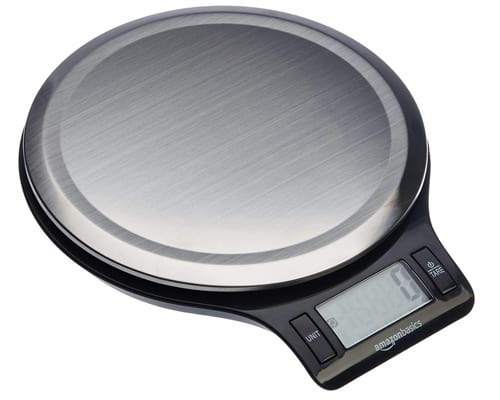 AmazonBasics Stainless Steel Digital Kitchen Scale with LCD Display