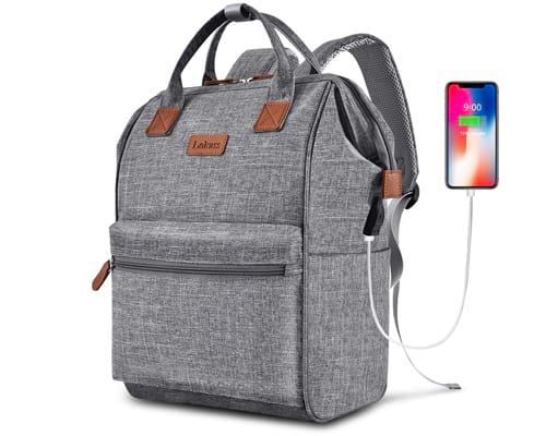 BRINCH Laptop Backpack 15.6 Inch Wide Open Computer Backpack Laptop Bag
