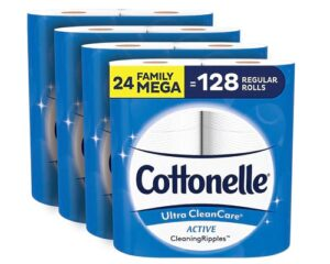 Cottonelle Ultra CleanCare Soft Toilet Paper with Active Cleaning Ripples