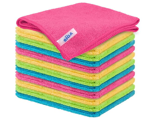 MR.SIGA Microfiber Cleaning Cloth,Pack of 12