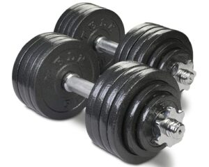 TELK Adjustable Dumbbells, 45, 65, 105 to 200 lbs