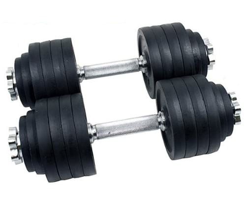 Unipack Adjustable Weight Cast Iron Dumbbells Set 105lbs